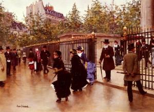 Jean Béraud Sortant De La Madeleine, Paris.